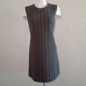 CYNTHIA ROWLEY Gray Cable Knit Sleeveless Dress